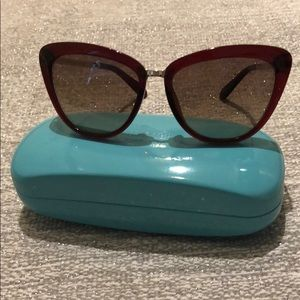 ♠️NWOT♠️ Kate Spade Cissy Sunglasses in Red